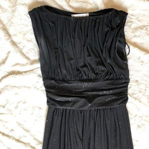 Pretty Black AA Studio Gown with Gold Sparkles